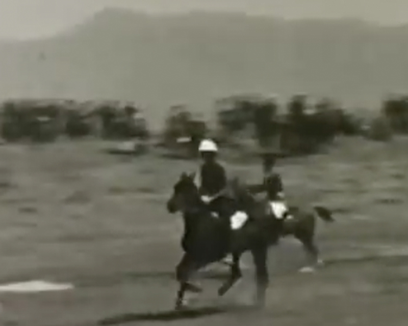 Film of the 16th Light Cavalry point-to-point racing in Quetta, 1935