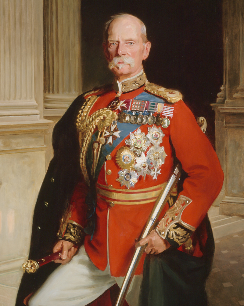 Portrait of Field Marshal Frederick Sleigh Roberts in full dress uniform, 1904