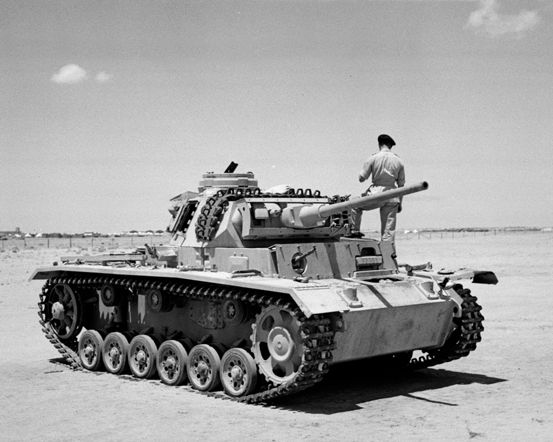 A Panzer Mk III, the Afrika Korps' main strike weapon during the desert battles of 1941-42