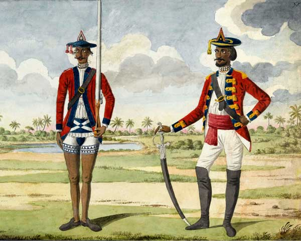 Troops of the Bengal Army, c1780