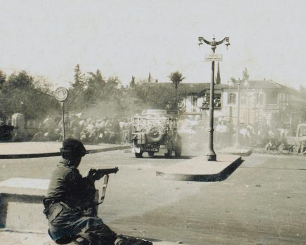 Street riot in Nicosia, 1956
