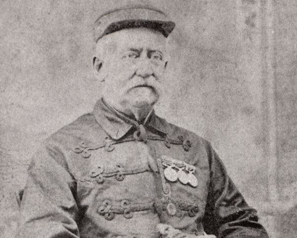 Sergeant-major Hewson, 'the first British casualty of the Mutiny', who was attacked by Mangal Pandy at Barrackpore