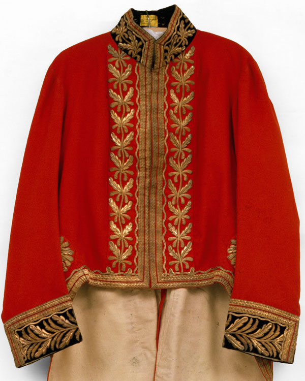 Coatee worn by one of the Viceroy's heralds at the Imperial Assemblage in Delhi on 1 January 1877, at which Queen Victoria was proclaimed Empress of India
