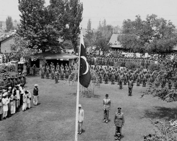 Pakistan Independence Day at Razmak, Waziristan, 15 August 1947