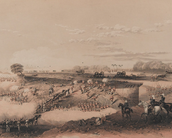 The attack by Brigadier Windham's small force against the rebels, 26 November 1857