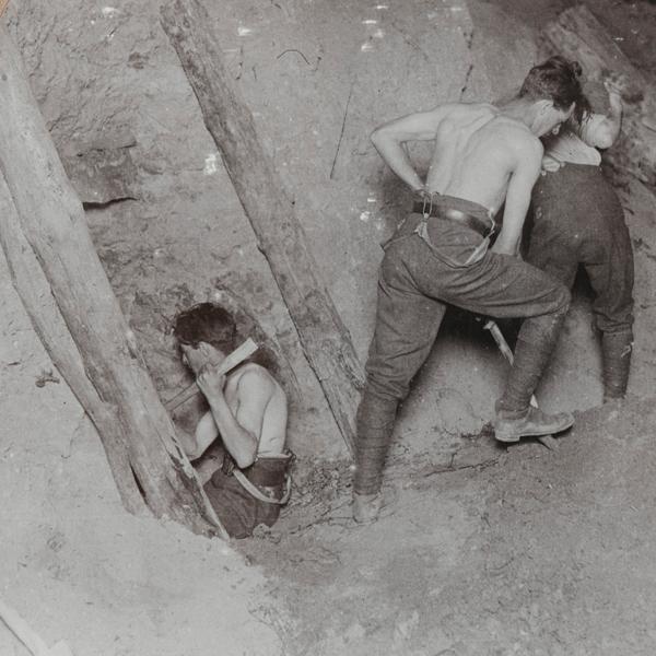Royal Engineers mining under Messines Ridge, 1917