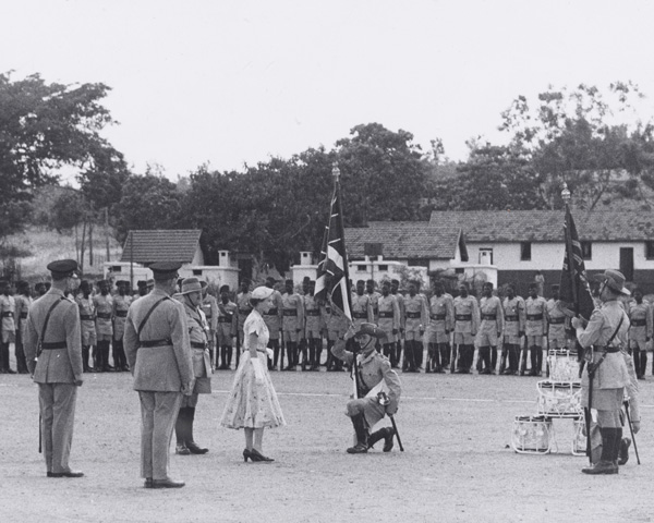 Presentation of Colours by Queen Elizabeth II to 4th Battalion, The King's African Rifles, 1954