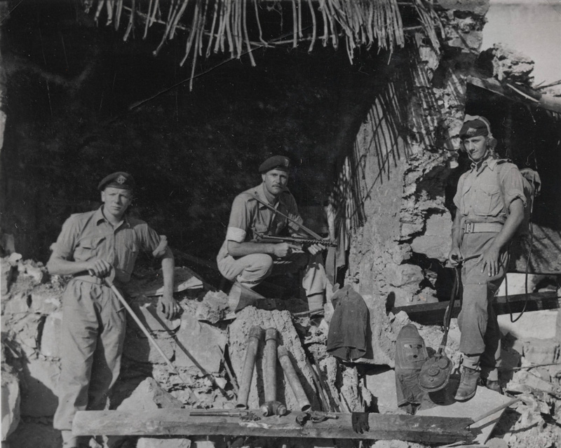 British soldiers uncover an EOKA arms cache, 1956