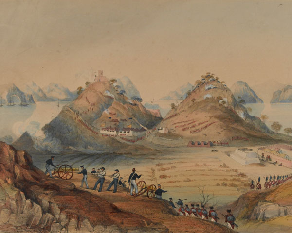 The storming of Chuenpi, 1841