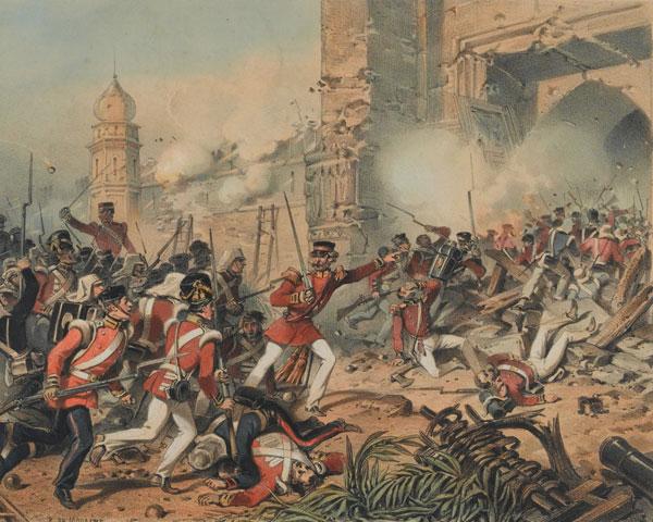 Storming the Kashmir Gate at Delhi, 1857
