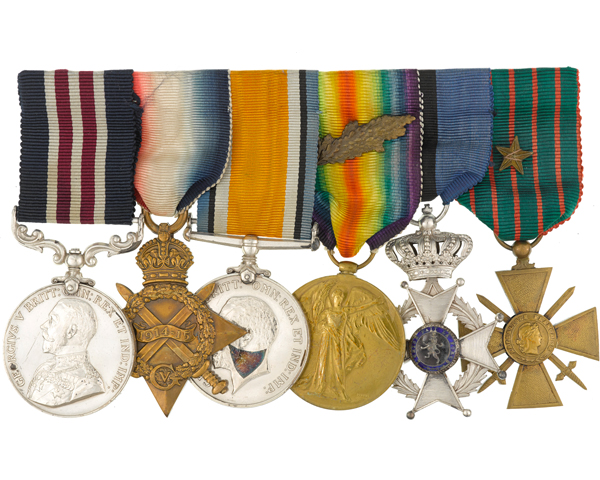 Military Medal group awarded to Muriel Thompson, FANY, 1915-18
