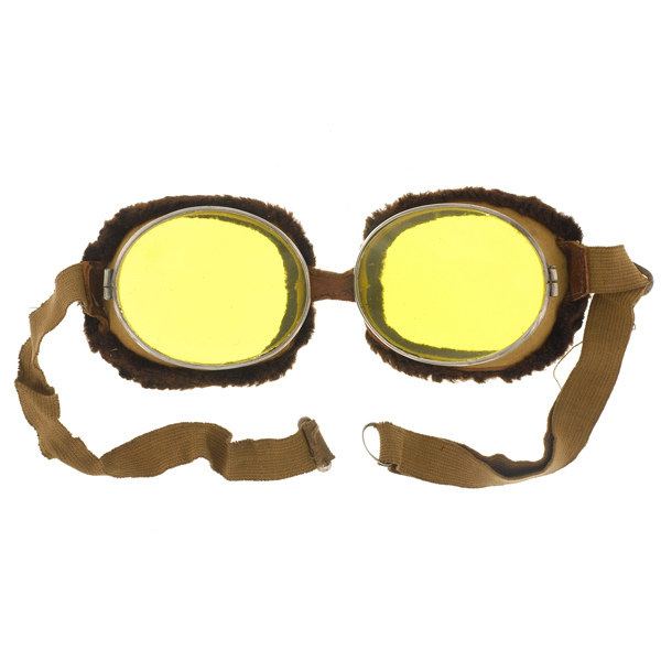 Flying goggles used by the Royal Flying Corps, 1917