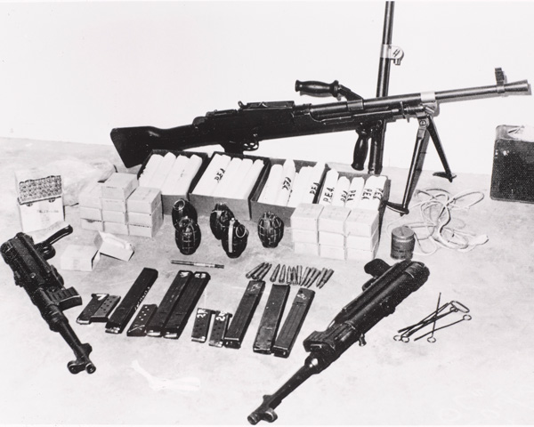A FLOSY arms cache found in Aden, 1967