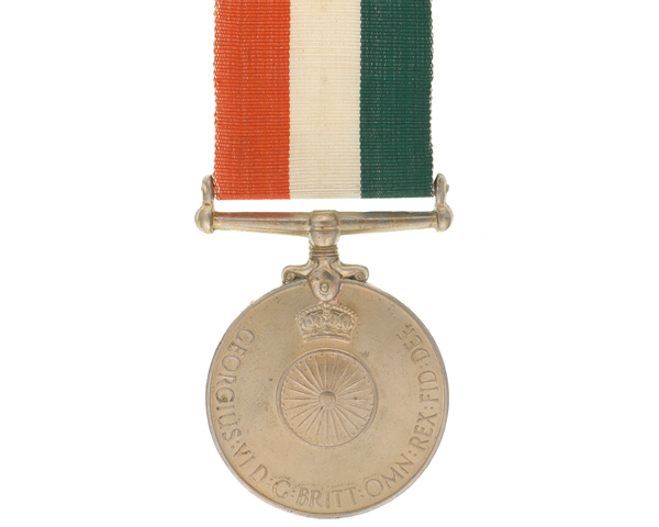 The Indian Independence Medal was awarded to all Indian military personnel serving on 15 August 1947
