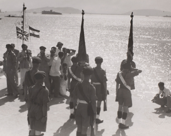 The Somerset Light Infantry, the last British troops to leave India, Bombay, 1948