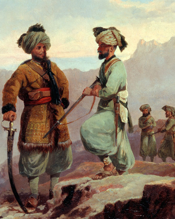 Pathan members of the 20th (Punjab) Native Infantry, 1868