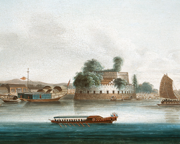 A fort on the Canton River, 1840. This was one of China's most important trade waterways and linked Canton with Hong Kong.
