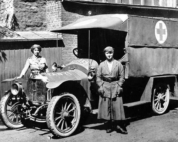 A FANY ambulance, 1918