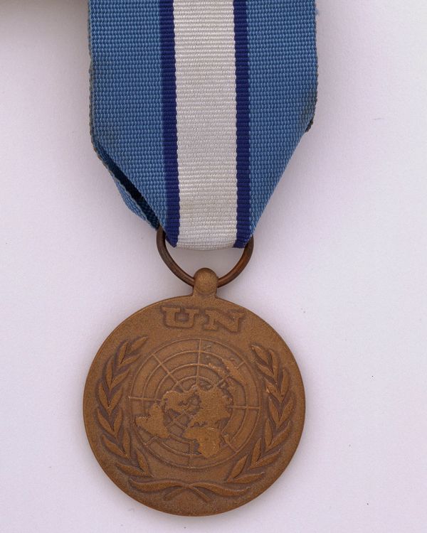The United Nations Cyprus Medal is awarded to soldiers who have completed three months' service keeping the peace between Greek and Turkish Cypriots.