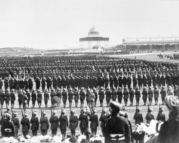 Soldiers at the Delhi Durbar, 1911