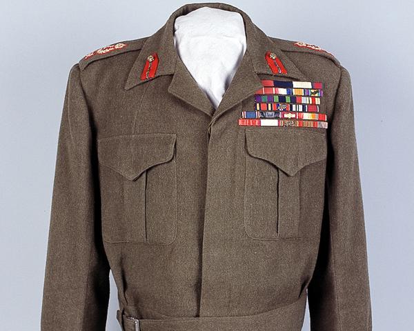 Field Marshal Sir Claude Auchinleck's battle dress, c1946