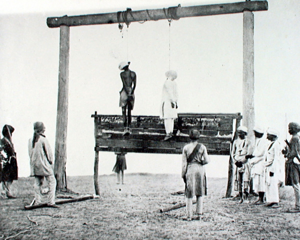 The execution of two rebels, 1858