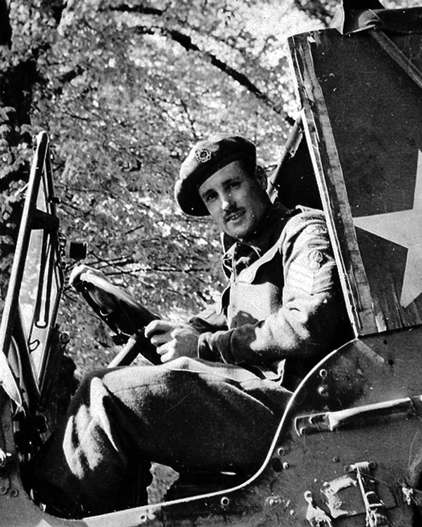 Sergeant Fred Darking during the Second World War, c.1944