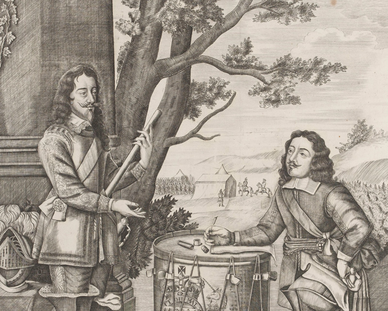 King Charles I giving orders to Sir Edward Walker