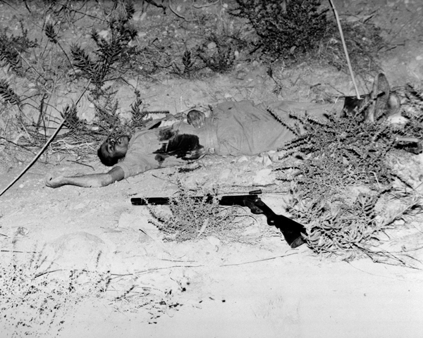 EOKA fighter killed in a clash with British troops, July 1958
