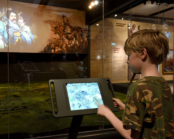 A child uses the interactive Siborne model display