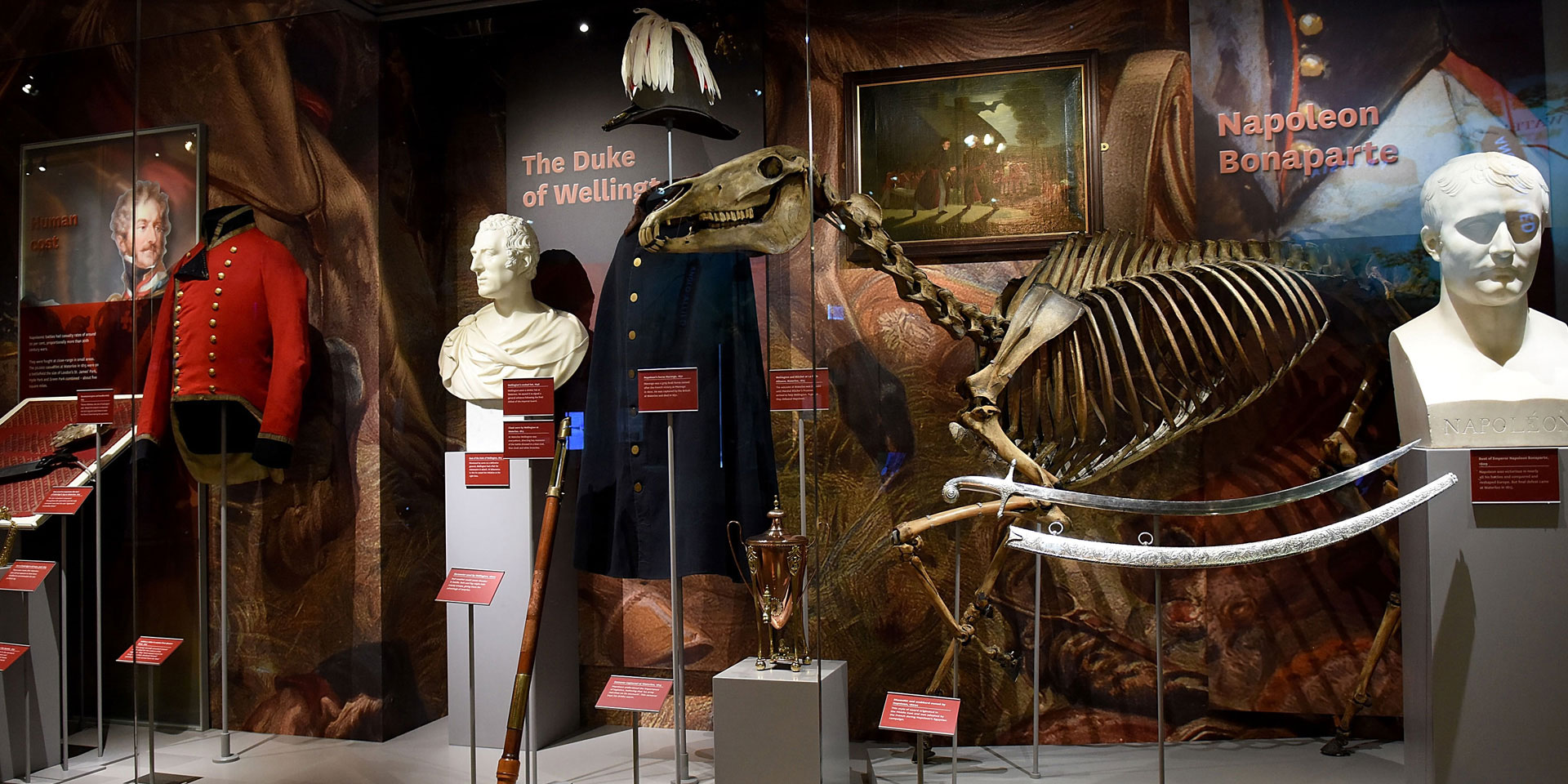 Objects relating to the Duke of Wellington and Napoleon on display in Battle gallery