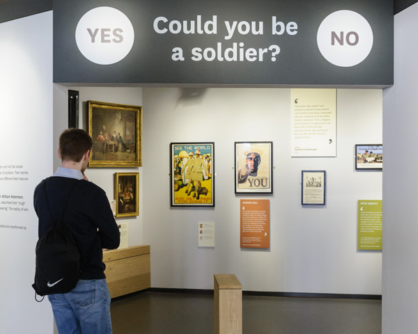 The entrance to soldier gallery