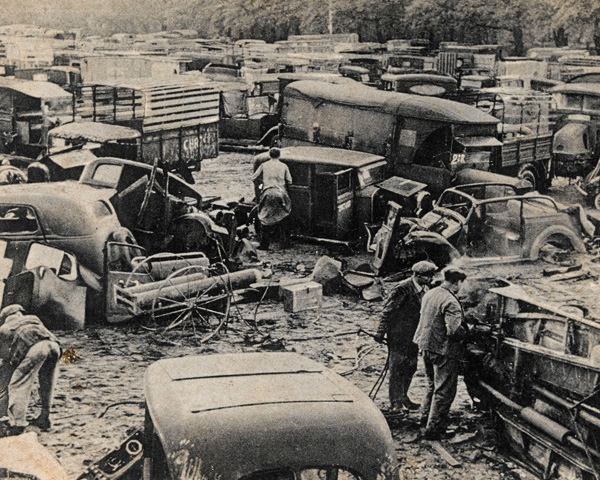Abandoned vehicles, 1940