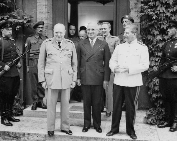 Marshal Joseph Stalin, Prime Minister Winston Churchill and President Harry Truman, 1945