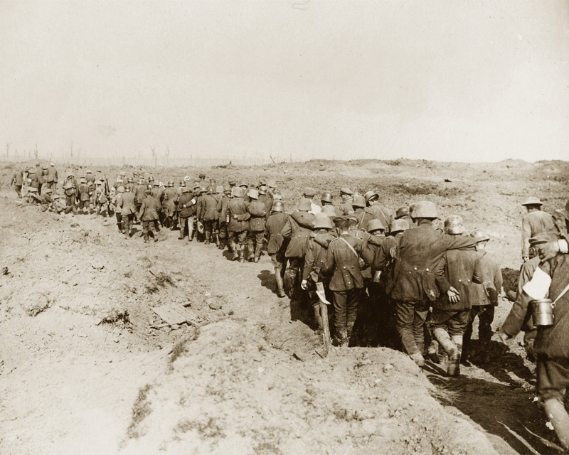 German prisoners of war captured during the battle of the Menin Road, 1917