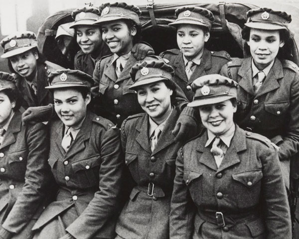 Members of the first West Indian ATS contingent to arrive in Britain, 1943