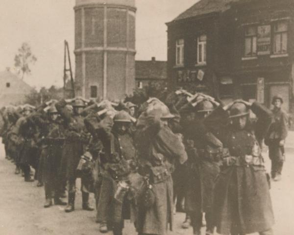 Captured Belgian soldiers, 1940