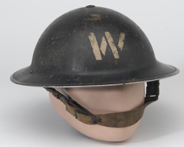 Air Raid Precautions warden's helmet, 1940