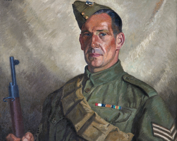 Sergeant Percy Stanford of the Worthing Home Guard, 1940