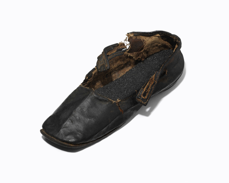 Child's shoe recovered from the well at Cawnpore, 1857