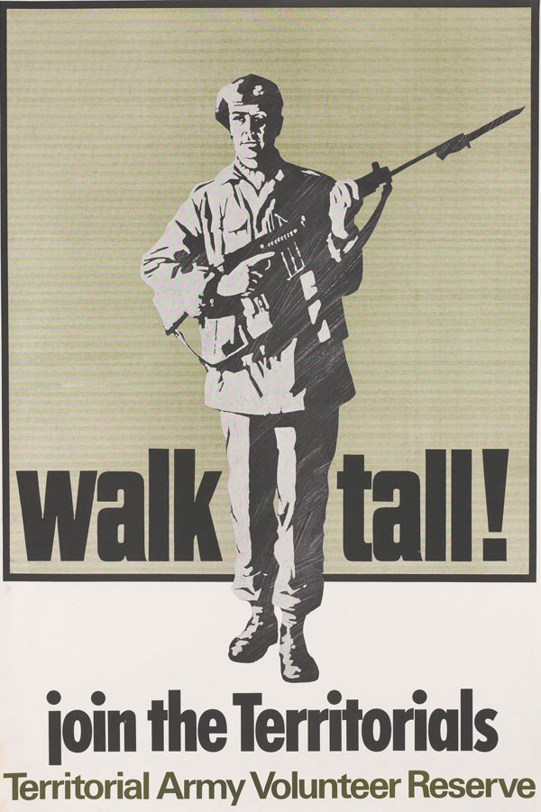 Territorial and Army Volunteer Reserve recruiting poster, c1967