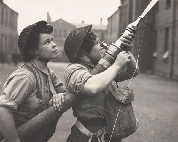 ATS women training as firefighters, c1944
