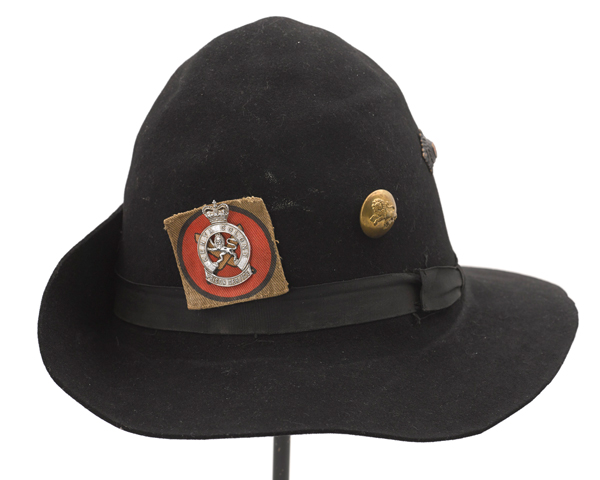 Hat worn by a member of the Kenya Prison Service, 1955