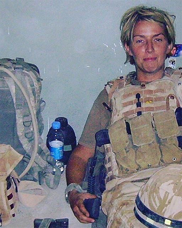 Combat Medic Chantelle Taylor, the first woman to kill in combat, on tour in Afghanistan, 2008