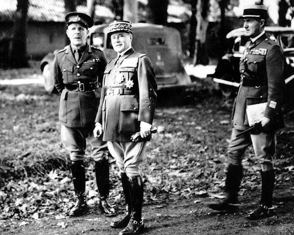 General Lord Gort VC and General Maurice Gamelin, 1939