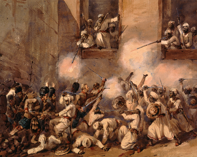 The 93rd Highlanders storming the Secundra Bagh, Lucknow, 16 November 1857