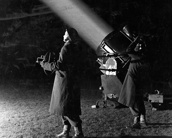 ATS women operating a searchlight, c1942