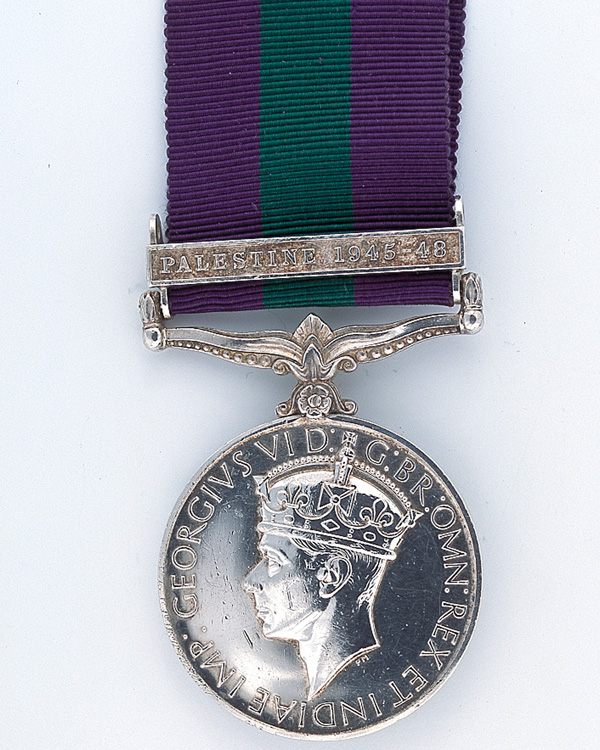 General Service Medal 1918-62 with clasp 'Palestine 1945-48'