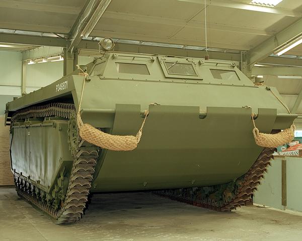 Amphibious Bushmaster Buffalo of the type used during the Rhine crossing, 1945