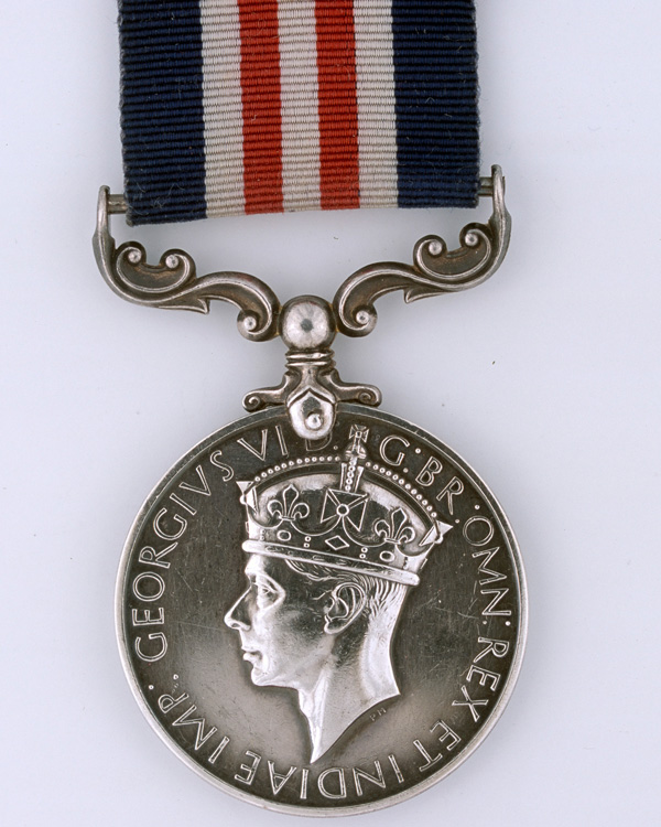 Military Medal awarded to Sergeant Herbert Chambers, Special Boat Service, for bravery during raids in Greece, 1944